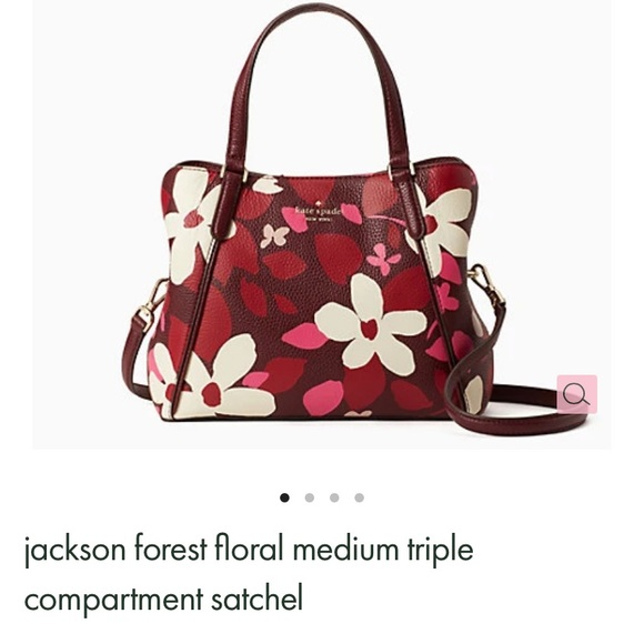 Kate Spade Floral Satchel with matching wallet.